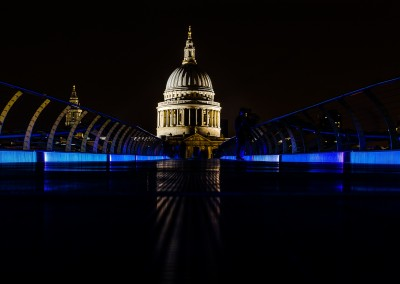 St Paul's reflected in the Millennium Bridge