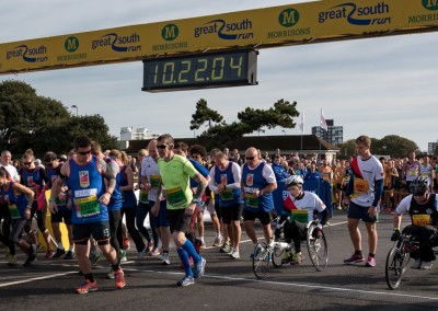 Green Wave disabled runners start