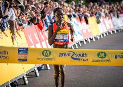 Vivian Cheruiyot has the finish in her sights