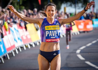 Jo Pavey MBE finishes second